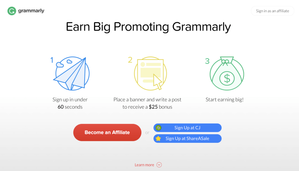 free grammarly premium affiliate program