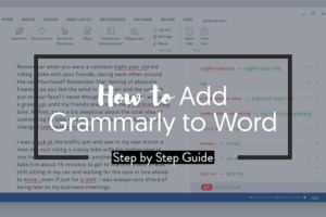 Add Grammarly to Word