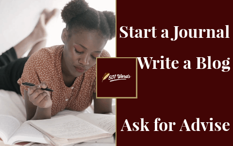 start writing/blogging to become a writer
